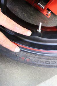 タイヤの装着位置
