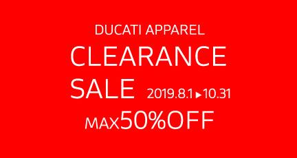 ドゥカティアパレル クリアランスセール 2019 2019年8月1日~10月31日